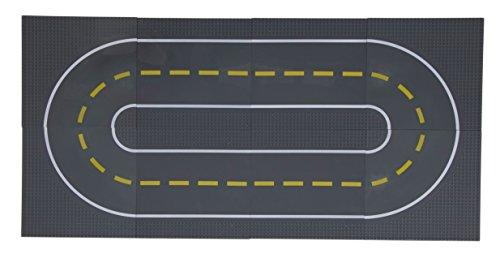 Strictly Briks - Bases para Construir - Imitan Carreteras, Calles o Caminos - 100 % Compatible con Todas Las Grandes Marcas - 25,4 x 25,4 cm - 4 Rectas y 4 Curvas