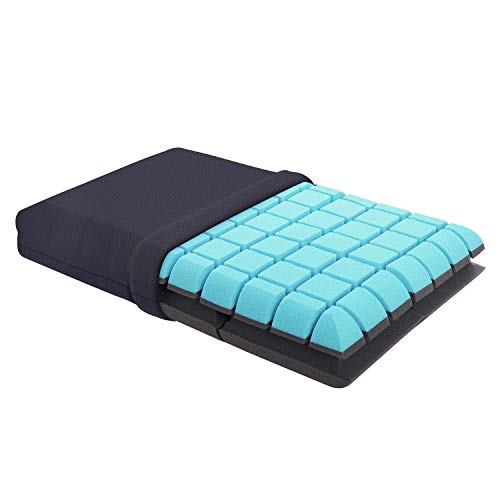 Gunap Bed Pillows for Sleeping, 3D Geometric Structured Ergonomic Support, Ventilated CertiPUR-US Certified Memory Foam Pillow for Cool & Comfort Sleep - Standard Size (22 x 14 x 4in)