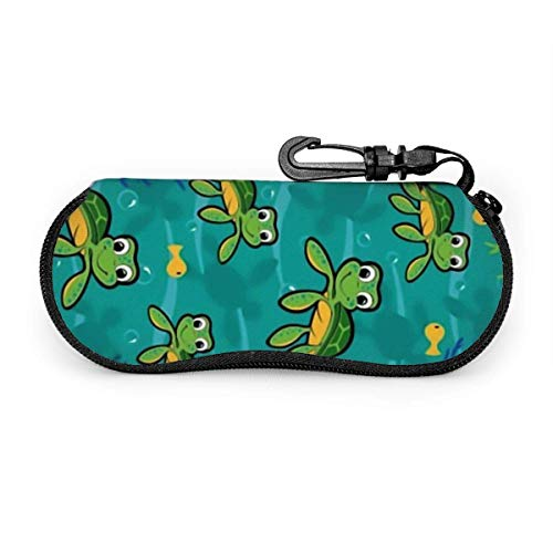 Bran-don Gafas de sol Estuche blando Estuche para gafas con clip para cinturón, Hawaiian Baby Turtle.png
