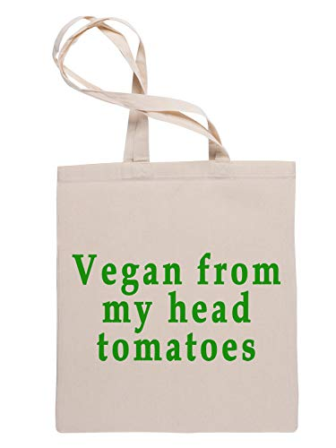 Vegan from My Head Tomatoes Reusable Tote Shopping Bag