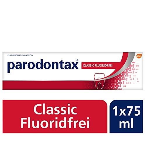 Parodon Classic Fluoridefrei tandpasta, 1x75ml, bij tandvleesbloeden