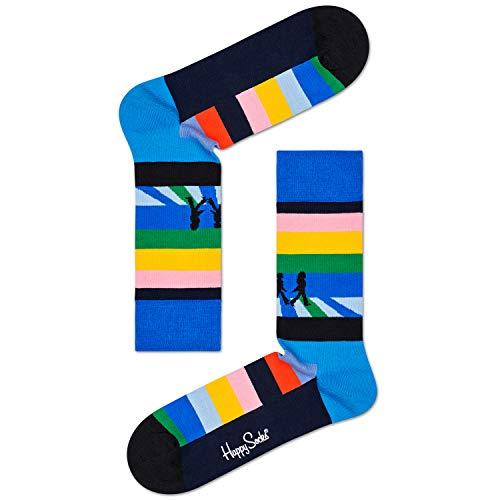 Happy Socks Herren & Damen The Beatles Abbey Road Crossing 2019 Baumwolle Socken Packung mit 1 Gemischt 36-40