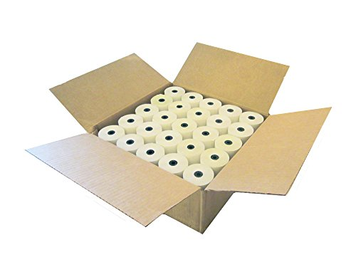 Nashua Carbonless Cash Register Paper, 3.0 x 3.0 inches x 90 feet, 2-ply Carbonless, Box of 50 Rolls (7379)