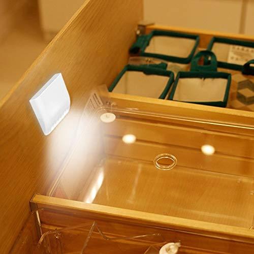 Nachtlampje met bewegingsmelder, 7 leds smart sensor kast lamp led-nachtlamp-scharnier licht, eenvoudige montage bewegingssensor nachtlampje