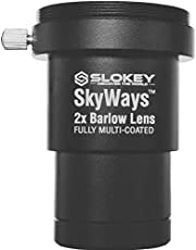 """Lente Acromática Barlow 2X Pro Slokey SkyWays de Calidad Óptica Superior tratada con FMC y Anti-reflejante para una Imagen Nítida y Luminosa - Súper Ligera, Compacta y Resistente (1,25"""")"""