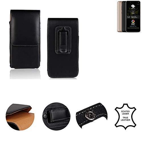 K-S-Trade® Holster Gürtel Tasche Für Allview A9 Plus Handy Hülle Leder Schwarz, 1x