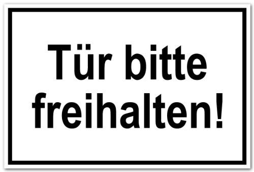 Hinweisschild - Tür Bitte freihalten! - Kunststoff - 20 x 30 cm