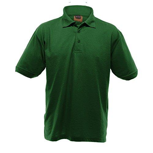 Ultimate Clothing Collection UCC - Polo épais à Manches Courtes - Homme (3XL) (Vert Bouteille)