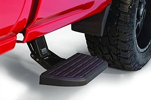 AMP Research 75407-01A BedStep2 Retractable Truck Bed Side Step for 2014-2019 Silverado & Sierra 1500, 2015-2019 Silverado & Sierra 2500/3500 (All Beds) , Black