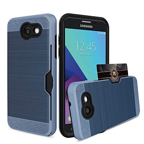 Galaxy J7 V Case, Galaxy J7 Prime Case, Galaxy J7 Perx Case, Galaxy J7 Sky Pro Case, Galaxy Halo Case, OEAGO Samsung Galaxy J7 2017 Case Hybrid Dual Layer Defender Protective Case Cover - Black