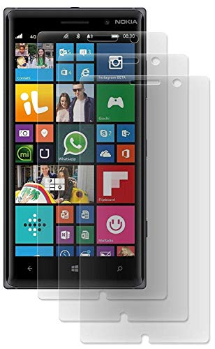 ENERGMiX Folien (3 Stück) Matt Displayfolie kompatibel mit Nokia Lumia 830 Schutzfolie Folie Anti-Glare