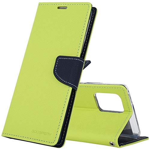GLXC AYYD for Samsung Galaxy S6 Lite Neumático Textura TPU + PC Funda a Prueba de Golpes, con Tenedor y Bandeja de Pluma (Color : Green)