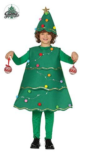 Guirca Costume Abete Albero Nataleluci Carnevale Bambino Bambina 4172_ 5-6 Anni