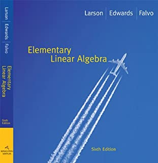Student Solutions Manual for Larson/Flavo S Elementary Linear Algebra, 6th