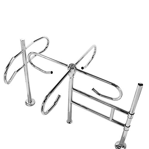 MOBECH - Cruz giratoria mecánica de cuatro brazos con elemento de guía, en el sentido de las agujas del reloj para fijación al suelo, altura: 107 cm, longitud: 154 cm