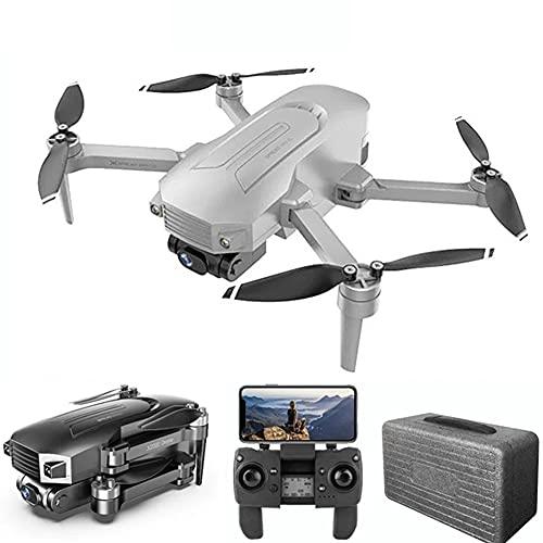 MAFANG GPS Drone con Cámara 4K HD WiFi, FPV RC Quadcopter Plegable con Regreso Automático A Casa, Sígueme, Control De Gestos, Modo MV, Baterías De 30 Minutos Y Estuche De Almacenamiento,Gris
