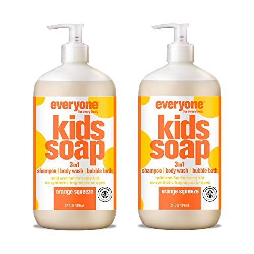 Everyone 3-in-1 Kids Soap: Shampoo, Body Wash, and Bubble Bath, Orange Squeeze, 32 Ounce, 2 Count -  AmazonUs/EOPB7