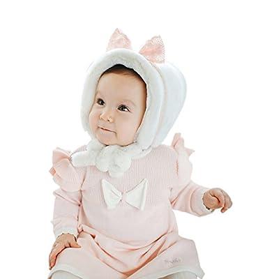 SUMOLUX Infant Baby Girls Winter Earmuffs Cap Warm Cute Plush Soft Beanie Hat