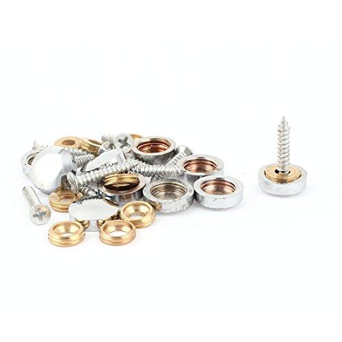 10 stuks passende onderdelen metaal 14 mm diameter schroefsluiting spiegel nails deksel