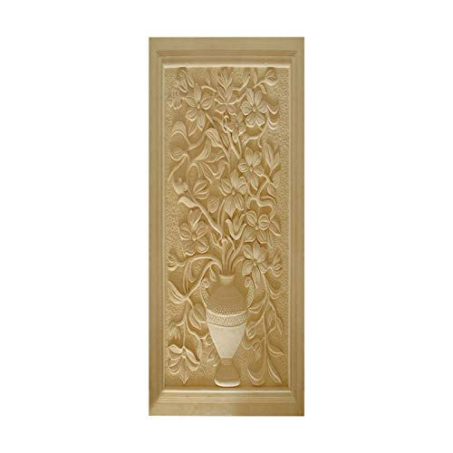 HOPAX Jarrón Tallado Pegatinas Puerta Mural Papel Tapiz Dormitorio Oficina Sala de Estar Carteles de baño decoración 90 * 200 cm