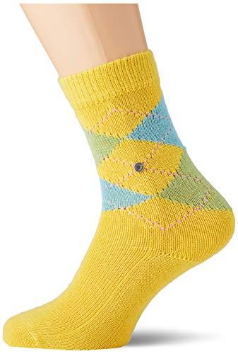 Burlington Damen Whitby Socken, gelb (amber 1712), 36-41