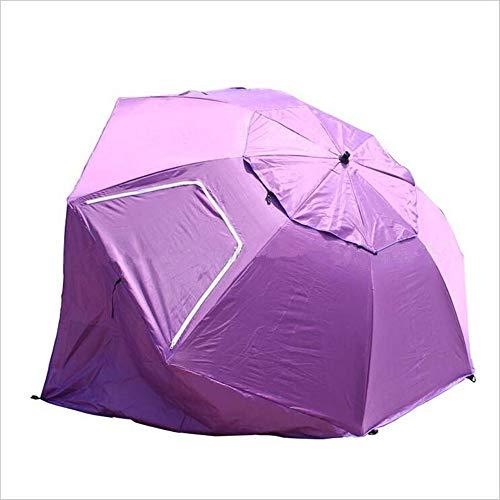 NBLYW schuine schaduw luifel paraplu, outdoor uitgaan vissen strand tent, draagbare alle weer zon paraplu voor optimaal zicht lijnen bij sportevenementen