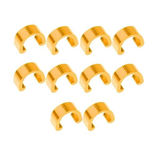 10 Piezas de Bicicletas Cable de Freno C Clip MTB Cable C-Clips...