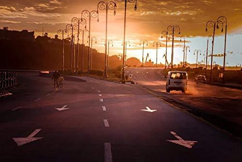 YHHAW Patrón de luz de Calle de vehículo de Carretera Urbana Puzzle,Puzzles para Adultos,Rompecabezas,Puzzle 500 Piezas