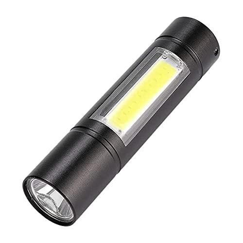 SONG Taschenlampe Fackel, multifunktionale USB-Zoom-Lade-LED-Taschenlampe, Mini-Fahrt Tragbare Fackel für den Außenbereich