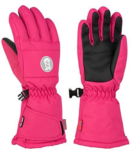 Trollkids Narvik Wasserabweisende Handschuhe, Rubin-Magenta, Größe 4; 6-7 Years