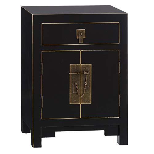 potente para casa Malla, shabby chic, tela beige y madera, consola 80x34x78 cm – LOLAhome