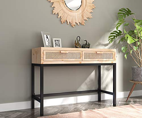 COZAYH Rustic Console Table with 2 Drawers Entryway Hallway...