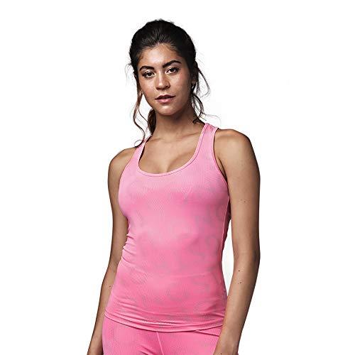 Strong iD Aktiv Slim Workout Sporttop Damen Athletic Stilvoll Fitness Tank Top, Neon Pink, L