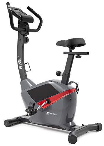 Hop-Sport Heimtrainer Fahrrad HS-2090H Aveo- Fahrradergometer mit Pulssensoren, Schwungmasse 9 kg - Ergometer für EIN max. Nutzergewicht von 120kg grau