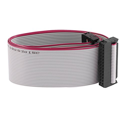 uxcell F/F IDC Connector 26 Pin Flat Ribbon Cable 2.54mm Pitch 20 Inch Length