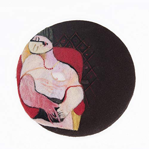 Lzjzb Boinas Boina De Mujer Mujer Invierno Otoño Sombrero Cálido Gorro Hecho A Mano Lana Café