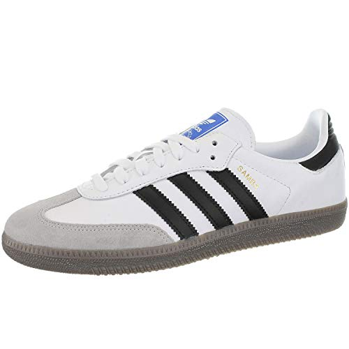Adidas Samba OG, Zapatillas de Gimnasia para Hombre, Blanco (Footwear White/Core Black/Clear Granite 0), 38 EU