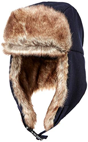 Amazon Essentials Trapper Hat with Faux Fur cold-weather-hats, navy, One Size