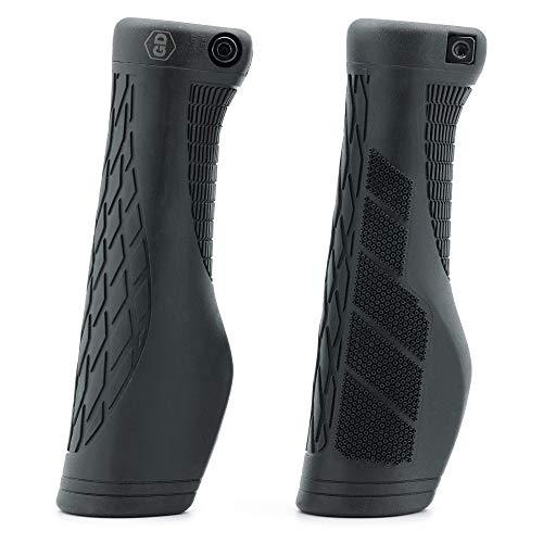 GD Grip Division ® Fahrradgriffe ergonomisch mit Lock-On Klemmung – Lenkergriffe rutschfest, weich und komfortable für einen sicheren Griff, schwarz