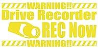 品 カッティングステッカー DriveRecorder REC Now(ドライブレコーダー録画中) 約80mmX約170mm イエロー 黄