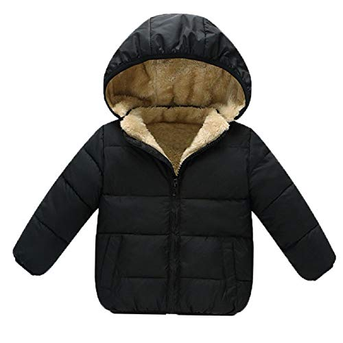 AMIYAN Baby Girls Boys' Winter Fleece Jackets with Hooded Toddler Cotton Dress Warm Lined Coat Outer Clothing