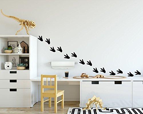 Dinosaur Footprints Wall Decals - Wall Decoration For Children's Room Playroom, Preschool or Classroom Decor