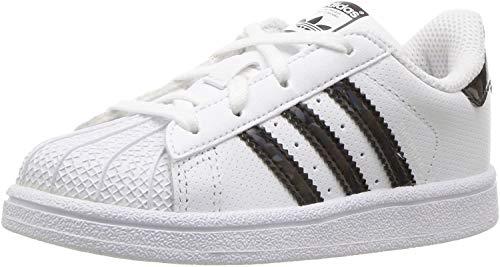Adidas Originals Superstar C Basketball Shoe (Little Kid),White/Black/White,11 M US Little Kid