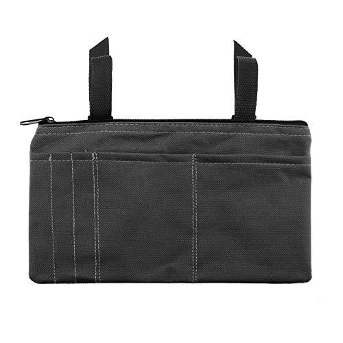 Armlehnen-Tasche für Rollstuhl, seitliche Mobilität, Scooter, Zubehör, leicht, 26 x 15,5 cm, IP64, 600D Oxford-Gewebe, Schwarz
