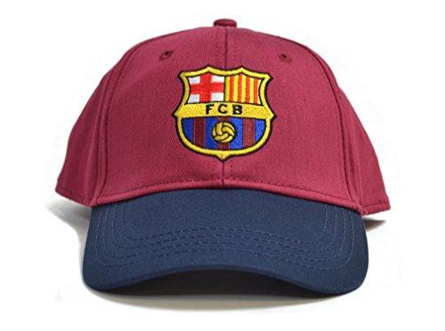 FC Barcelona Football Club Baseball Cap Hat Blue Maroon Crest Badge Official