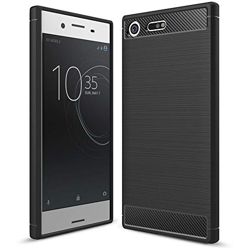 NALIA Handyhülle kompatibel mit Sony Xperia XZ Premium, Ultra-Slim Silikon Hülle Cover Dünne Hülle Crystal Phone Schutzhülle, Etui Handy-Tasche Backcover Bumper, TPU Smartphone Gummihülle - Schwarz