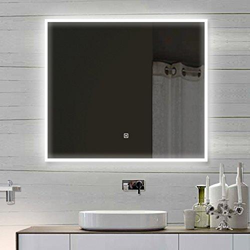 Luxa Qua Design Miroir Mural Miroir de Salle de Bains avec LED Interrupteur Tactile – sam80 x 60 80 x 60 cm