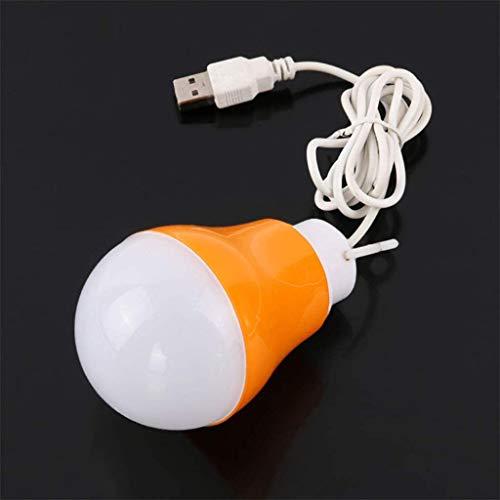 Lámpara De Pared Simple Y Fresca 5W Bombilla de luz LED USB luz del día la luz blanca de la tienda de campaña de emergencia por el banco de la energía del ordenador portátil-5, de color rojo, color: v