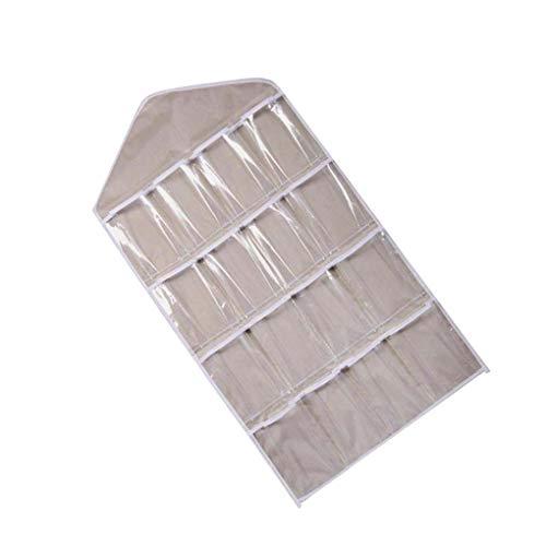 Guangcailun 16 Bolsillos Transparentes Colgantes Bolsas de Almacenamiento Calcetines Sujetador Ropa Interior Organizador para el hogar/Viajes