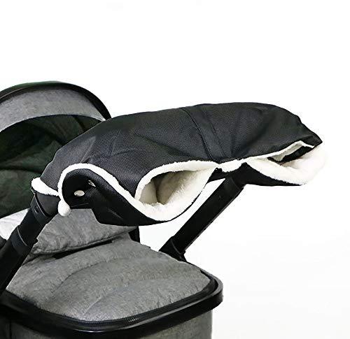 QYHSS Cochecito Manguito, Anticongelante Impermeable Extra Grueso Guante De Invierno CáLido para Cochecito De Bebé, para Padres Y Cuidadores Accesorios para Cochecito De Bebé (Negro)